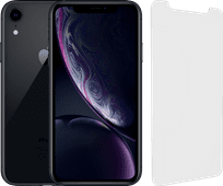 Refurbished iPhone Xr 64 GB Zwart + InvisibleShield Glass Elite Screenprotector