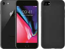 Refurbished iPhone 8 64GB Space Gray + Azuri Back Cover Siliconen Zwart