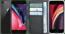 iPhone 8 64 Go Gris Sidéral Reconditionné + Azuri Wallet Book Case Noir