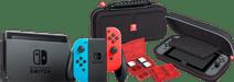Nintendo Switch (2019 Upgrade) Rood/Blauw + Bigben Nintendo Switch Travel Case Zwart