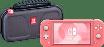 Nintendo Switch Lite Koraal + Bigben Officiële Nintendo Switch Lite Beschermtas