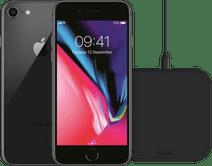Refurbished iPhone 8 64GB Space Gray + ZENS Draadloze Oplader 10W Zwart