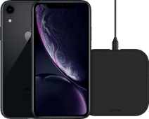 Refurbished iPhone Xr 64GB Zwart + ZENS Draadloze Oplader 10W Zwart