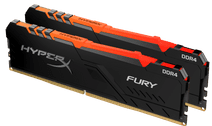 Kingston HyperX 32GB 3200MHz DDR4 CL16 DIMM (Kit of 2) Fury RGB