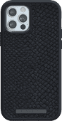 Nordic Elements Njord Apple iPhone 12 / 12 Pro Back Cover Leer Grijs
