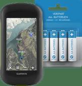 Garmin Montana 610 + Veripart Oplaadbare NiMH AA-batterijen 4 stuks