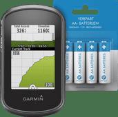 Garmin eTrex Touch 35 + Veripart Oplaadbare NiMH AA-batterijen 4 stuks