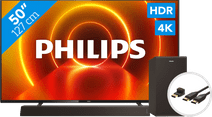 Philips 50PUS7805 - Ambilight + Soundbar + HDMI kabel
