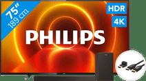 Philips 75PUS7805 - Ambilight + Soundbar + HDMI kabel