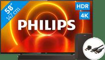 Philips 58PUS7805 - Ambilight + Soundbar +  HDMI kabel