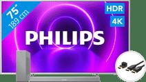 Philips The One 75PUS8505 - Ambilight + Soundbar + HDMI kabel