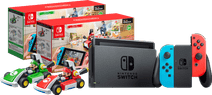 Mario Kart Live pakket - Nintendo Switch (2019 Upgrade) Rood/Blauw + Mario en Luigi set