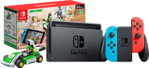 Nintendo Switch (2019 Upgrade) Rood/Blauw + Mario Kart Live: Home Circuit - Luigi Set