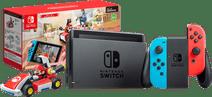 Nintendo Switch (2019 Upgrade) Rood/Blauw + Mario Kart Live: Home Circuit - Mario Set