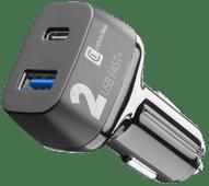 Cellularline Autolader zonder Kabel met 2 Usb Poorten 18W Power Delivery + Quick Charge