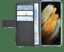 Azuri Wallet Samsung Galaxy S21 Ultra Book Case Zwart
