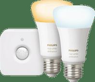 Philips Hue White Ambiance E27 Duopack Bluetooth + Philips Hue Bewegingssensor
