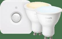 Philips Hue White Ambiance GU10 Bluetooth Lot de 2 + Philips Hue Détecteur de Mouvement