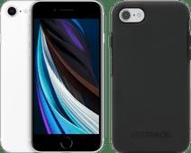 Apple iPhone SE 128GB Wit + Otterbox Symmetry Back Cover Zwart