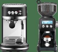 Sage the Bambino Plus Black Truffel + Koffiemolen Sage koffiemachines