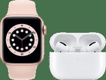 Apple Watch Series 6 40 mm Or Rose Bracelet Rose + AirPods Pro avec Boitier de Charge Sans
