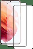 Azuri Tempered Glass Samsung Galaxy S21 Screenprotector Zwart Duo Pack