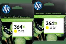 HP 364XL Cartouches Jaune Lot de 2
