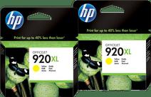 HP 920XL Cartridges Geel Duo Pack