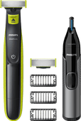 Philips One Blade QP2530/30 + Philips NT3650/16 Tondeuse à Nez
