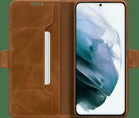 DBramante1928 Copenhagen Slim Samsung Galaxy S21 Book Case Leer Bruin