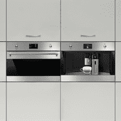 SMEG SF4390VCX1 + SMEG CMS4303X
