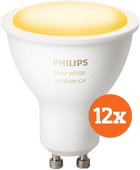 Philips Hue White Ambiance GU10 Bluetooth 12-Pack