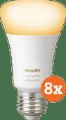 Philips Hue White Ambiance E27 Bluetooth 8-Pack