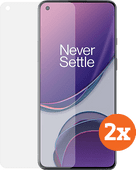 Azuri Tempered Glass OnePlus 8T Screenprotector Duo Pack