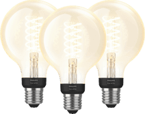 Philips Hue Filamentlamp White Globe E27 Bluetooth 3-pack Philips Hue E27 fitting