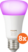 Philips Hue White and Color E27 Bluetooth 8-Pack Philips Hue E27 White & Color