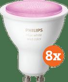 Philips Hue White and Color GU10 Bluetooth Lot de 8
