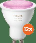 Philips Hue White and Color GU10 Bluetooth Lot de 12