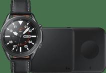 Samsung Galaxy Watch3 Zwart 45 mm + Samsung Draadloze Oplader DUO Pad 9W Zwart