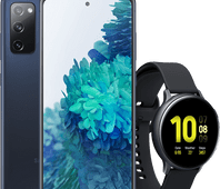 Samsung Galaxy S20 FE blauw + Samsung galaxy watch active 2