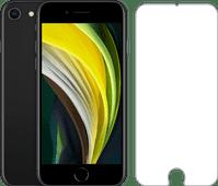 iPhone SE 64 Go Noir Reconditionné + Protège-écran Azuri Rinox Case Friendly Verre