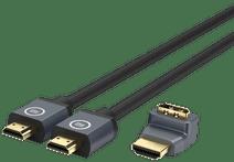 BlueBuilt HDMI 2.1 Kabel Nylon 2 Meter+ 90° Adapter