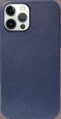 Decoded Apple iPhone 12 mini Back Cover met MagSafe Magneet Leer Blauw