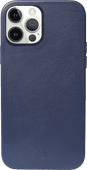 Decoded Apple iPhone 12 / 12 Pro Back Cover met MagSafe Magneet Leer Blauw
