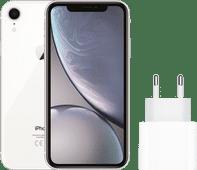 Apple iPhone Xr 128 GB Wit + Apple Usb C Oplader 20W