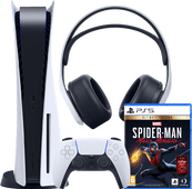 PlayStation 5 + Spider-Man - Miles Morales + PlayStation 3D Pulse Headset