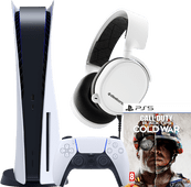 PlayStation 5 + Call of Duty: Black Ops Cold War + SteelSeries Arctis 3 2019 Wit