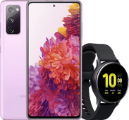 Samsung Galaxy S20 FE paars + Samsung galaxy watch active 2