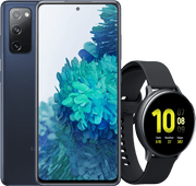 Samsung Galaxy S20 FE blauw + Samsung Galaxy Watch Active2