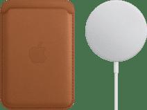 Apple Leren Kaarthouder voor iPhone met MagSafe Zadelbruin + MagSafe Draadloze Oplader 15W